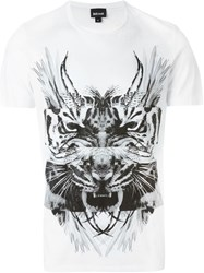 Just Cavalli Animal Collage Print T Shirt White
