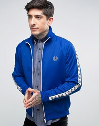 Fred Perry Sports Authentic Track Jacket In Blue Regal Blue