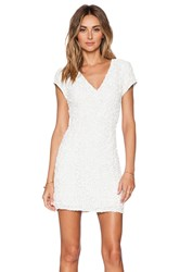 Parker Black Serena Sequin Dress White