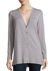 Saks Fifth Avenue Long Sleeve V Neck Cardigan Black