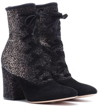 Gianvito Rossi Danis Lace Up Ankle Boots Black
