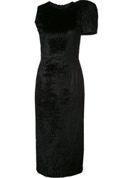 Sophie Theallet One Structured Shoulder Dress Black