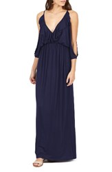 Delacy Women's Nia Cold Shoulder Maxi Dress Navy