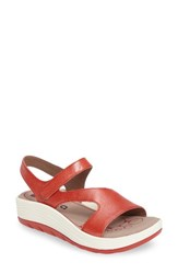 Bionica Women's Cybele Platform Sandal Coral Leather