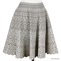 Alaia Mini Panther Circular Flared Skirt