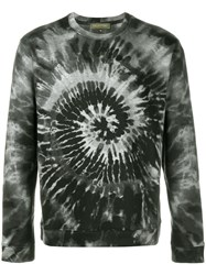 Valentino Tie And Dye Print Sweatshirt Green