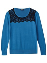 Precis Petite Alicia Lace Detail Jumper Teal