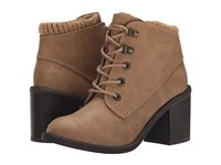 Blowfish Misty Sand Texas Pu Knit Cuff Women's Lace Up Boots Brown
