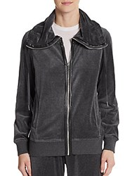 Calvin Klein Drawstring Zip Front Jacket Heathered Charcoal