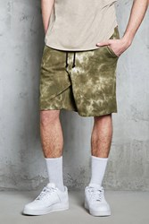 Forever 21 Tie Dye French Terry Shorts Olive