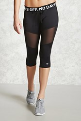 Forever 21 Active No Days Off Leggings Black White