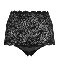 Wolford Tulle Lace High Waist Briefs Female Black