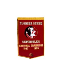 Winning Streak Florida State Seminoles Dynasty Banner Team Color