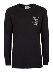 Topman Black 2Pac Print Oversized Long Sleeve T Shirt