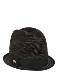 Dsquared Tall Woven Straw Hat