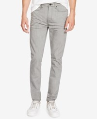 Kenneth Cole New York Men's Stretch Gray Wash Skinny Jeans Grey