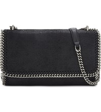 Stella Mccartney Falabella Faux Leather Shoulder Bag Black