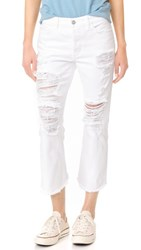Siwy Jenna Louise Twisted Seam Crop Flare Jeans White Sky