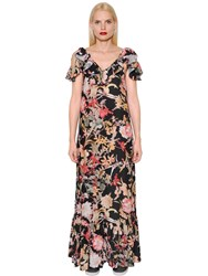 I'm Isola Marras Floral Printed Light Crepe Dress