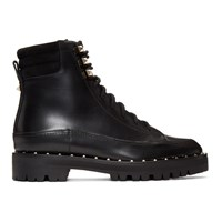 Valentino Black Garavani Sole Studded Hiking Boots