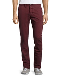 Superdry Commodity Slim Fit Contrast Pocket Chino Pants Red Grape