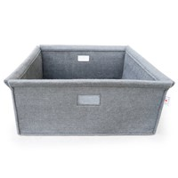 Spot On Square Felt Bin Gray
