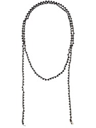 Ann Demeulemeester Crystal Necklace Black
