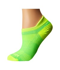 Wrightsock Coolmesh Ii Tab Lemon Lime Low Cut Socks Shoes Green