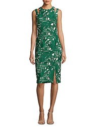Kay Unger Sleeveless Cocktail Dress Green