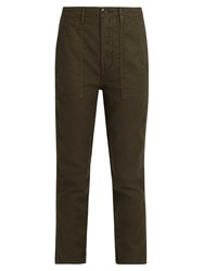 The Great Slouch Armies Cropped Trousers Dark Khaki