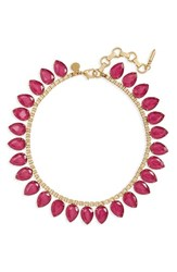 Loren Hope Women's 'Sylvia' Crystal Collar Necklace Red Bud