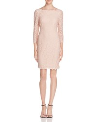 Adrianna Papell Petites Lace Boat Neck Dress Bridal Blush