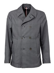 Thom Browne Double Breasted Coat Grey