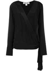Diane Von Furstenberg Wrap Top Black