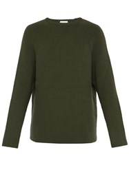 Raey Crew Neck Merino Wool Sweater Khaki