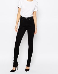 Dr. Denim Dr Denim Solitaire High Waist Super Skinny Jeans Black