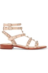 Sam Edelman Eavan Stud Embellished Leather Gladiator Sandals Nude