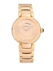 Versace Leda Stainless Steel Watch Rose Gold