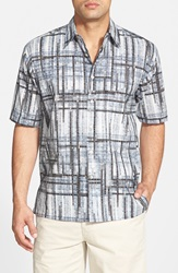 Tori Richard 'Cross Beams' Classic Fit Short Sleeve Sport Shirt Black