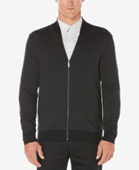 Perry Ellis Men's Big And Tall Herringbone Jacket Black