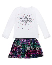 Kate Spade Cue The Confetti Top W Spot Print Skirt Size 2 6X Multi