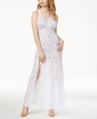 Guess Lelani Lace Maxi Dress Pure White