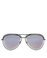 Marc Jacobs Mirrored Floating Aviator Sunglasses 54Mm Silver Silver Mirrored Lens