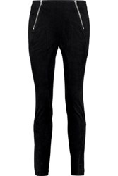 Alexander Wang T By Cotton Blend Velvet Leggings Black