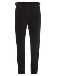 Bottega Veneta Relaxed Leg Stretch Cotton Corduroy Trousers Navy