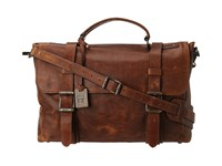Frye Logan Flap Brief Case Cognac Antique Pull Up Briefcase Bags Brown