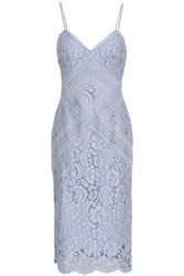 Lover Woman Corded Lace Dress Light Blue