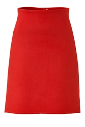 Akris Angora Wool A Line Skirt
