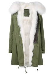 Mr And Mrs Italy Fox Fur Lining Coat Green