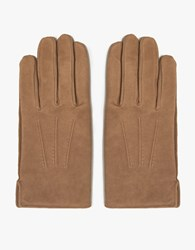 A.P.C. Luc Gloves In Brown